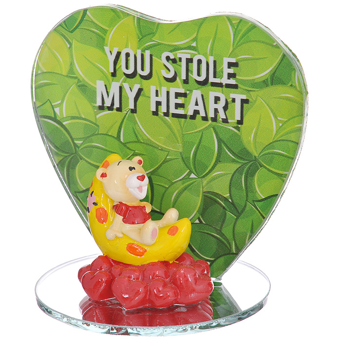 Фигурка декоративная Мишка-валентинка. 123438 декоративная фигурка мишка теннисист высота 11 см 29381