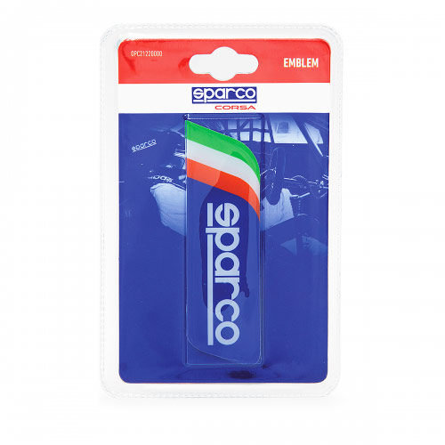 Эмблема с логотипом Sparco, самоклеящаяся, цвет: синий. SPC/EMB-002 BLSPC/EMB-002 BLЭмблема с логотипом Sparco выполнена в фирменном дизайне Sparco и украшена изображением итальянского флага. Это лакированная объемная эмблема с эффектом 3D. На поверхность эмблема надежно крепится при помощи самоклеящейся основы. Традиционно ее устанавливают на багажник автомобиля или любую другую плоскость кузова, но при желании ею можно украсить и интерьер автомобиля. Эмблема с логотипом Sparco подчеркнет динамичный характер автомобиля и придаст ему яркие и запоминающиеся черты. Характеристики: Материал: бумага. Цвет: синий. Размер эмблемы: 12 см х 3,5 см. Размер упаковки: 2 см х 15 см х 9 см. Артикул: SPC/EMB-002 BL.
