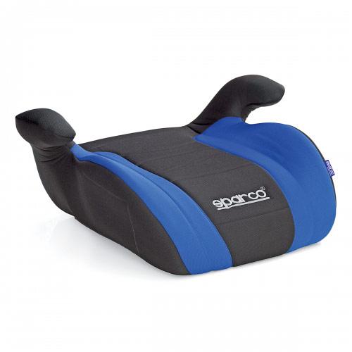 Бустер Sparco, группы 2/3 (15-36 кг/ 4-9 лет), полиэстер, наполнитель: поролон, цвет: черный, синий, 1/6SPC/DK-500 BK/BLУдерживающее устройство кресло-бустер Sparco устанавливается на автомобильное кресло, увеличивая высоту сиденья, что позволяет надежнее зафиксировать ребенка во время поездки. Модель относится к группе 2/3 и рассчитана на детей от 4 до 9 лет массой от 15 до 36 кг. Крепится штатным ремнем безопасности. Чехол изготовлен из износостойкого полиэстера, наполнитель - поролон, основа сделана из прочного не колкого пластика. Характеристики:Материал: полиэстер, пластик. Наполнитель: поролон. Толщина наполнителя: 3 см. Размеры кресла: 205 мм х 445 мм х 365 мм. Способ установки: по движению. Артикул: SPC/DK-500 BK/BL.