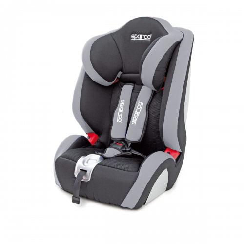 Автокресло детское Sparco, группы 1/2/3 (9-36 кг/ 9 мес-9 лет), полиэстер, объемная сетчатая ткань, цвет: черный, серый, 1/2SPC/DK-350 BK/GYАвтокресло группы 1/2/3 Sparco рассчитано на детей от 9 месяцев до 9 лет массой от 9 до 36 кг. Конструкция кресла позволяет устанавливать его на любые автомобильные сиденья, пристегивая с помощью штатного ремня безопасности. Чехол легко снимается с кресла и чистится. Предусмотрен пятиточечный ремень безопасности швейцарской фирмы Holmbergs, надежно фиксирующий ребенка в кресле и гарантирующий дополнительную безопасность.Среди достоинств автокресла: объемная мягкая защита кресла и регулируемый по высоте подголовник (5 положений). Характеристики:Материал: полиэстер, объемная сетчатая ткань. Боковая защита: да. Внутренний ремень безопасности: пятиточечный. Откидывание автокресла: да. Размеры автокресла: 645 мм х 500 мм х 500 мм. Регулируемый по высоте подголовник: да. Способ установки: по движению. Артикул: SPC/DK-350 BK/GY.