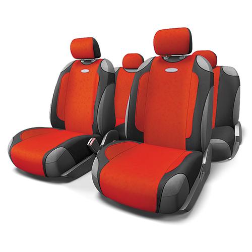 Чехлы-майки Autoprofi Generation, велюр, цвет: черный, красный, 9 предметов. GEN-805T BK/RDGEN-805T BK/RDАвтомобильные чехлы-майки Autoprofi Generation, выполненные из велюра, могут использоваться с сиденьями всех типов. Форма чехлов позволяет быстро и без затруднений надевать их на кресла, не снимая подголовники и подлокотники.Спокойный дизайн и приятные тона маек передают водителю и пассажирам ощущения домашнего уюта и тепла. Ворсистый велюр чехлов, триплированный поролоном, делает их на ощупь мягкими и бархатистыми. Материал не выцветает на солнце, не электризуется и обладает высокими грязеотталкивающими свойствами. Комплектация: - 1 сиденье заднего ряда, - 1 спинка заднего ряда, - 2 чехла переднего ряда, - 5 подголовников, - набор фиксирующих крючков.Особенности: Использование с любыми типами сиденийПоролон - 5 мм