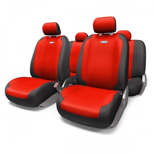 Набор авточехлов Autoprofi Generation, велюр, цвет: черный, красный, 11 предметов. Размер MGEN-1105 BK/RD (M)Плавные очертания, спокойный дизайн и приятные тона чехлов Generation передают водителю и пассажирам ощущения домашнего уюта и тепла. Удобство чехлам добавляют два объемных кармана, расположенных в спинках передних сидений.Ворсистый велюр чехлов, триплированный поролоном, делает их на ощупь мягкими и бархатистыми. Материал не выцветает на солнце, не электризуется и обладает высокими грязеотталкивающими свойствами. Основные особенности авточехлов Generation:- 3 молнии в спинке заднего ряда; - карманы в спинках передних сидений;- толщина поролона: 5 мм.Комплектация: - 1 сиденье заднего ряда; - 1 спинка заднего ряда; - 2 сиденья переднего ряда; - 2 спинки переднего ряда; - 5 подголовников; - набор фиксирующих крючков.