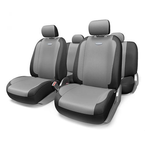 Набор авточехлов Autoprofi Generation, велюр, цвет: черный, темно-серый, 11 предметов. Размер MGEN-1105 BK/D.GY (M)Плавные очертания, спокойный дизайн и приятные тона чехлов Generation передают водителю и пассажирам ощущения домашнего уюта и тепла. Удобство чехлам добавляют два объемных кармана, расположенных в спинках передних сидений.Ворсистый велюр чехлов, триплированный поролоном, делает их на ощупь мягкими и бархатистыми. Материал не выцветает на солнце, не электризуется и обладает высокими грязеотталкивающими свойствами. Основные особенности авточехлов Generation:- 3 молнии в спинке заднего ряда; - карманы в спинках передних сидений;- толщина поролона: 5 мм.Комплектация: - 1 сиденье заднего ряда; - 1 спинка заднего ряда; - 2 сиденья переднего ряда; - 2 спинки переднего ряда; - 5 подголовников; - набор фиксирующих крючков.
