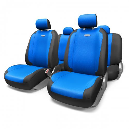Набор авточехлов Autoprofi Generation, велюр, цвет: черный, синий, 11 предметов. Размер MGEN-1105 BK/BL (M)Плавные очертания, спокойный дизайн и приятные тона чехлов Generation передают водителю и пассажирам ощущения домашнего уюта и тепла. Удобство чехлам добавляют два объемных кармана, расположенных в спинках передних сидений.Ворсистый велюр чехлов, триплированный поролоном, делает их на ощупь мягкими и бархатистыми. Материал не выцветает на солнце, не электризуется и обладает высокими грязеотталкивающими свойствами. Основные особенности авточехлов Generation:- 3 молнии в спинке заднего ряда; - карманы в спинках передних сидений;- толщина поролона: 5 мм.Комплектация: - 1 сиденье заднего ряда; - 1 спинка заднего ряда; - 2 сиденья переднего ряда; - 2 спинки переднего ряда; - 5 подголовников; - набор фиксирующих крючков.