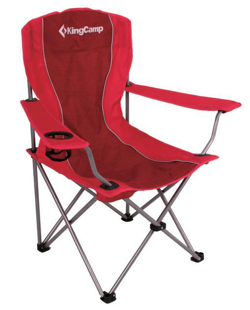 Кресло складное KingCamp Arms Chair In Steel, цвет: красныйУТ-000049544Складное кресло KingCamp с широким сиденьем и подлокотниками станет незаменимым предметом в походе, на природе, на рыбалке, а также на даче. На подлокотнике имеется сетчатый подстаканник. Кресло имеет прочный металлический каркас и покрытие из текстиля, оно легко собирается и разбирается и не занимает много места, поэтому подходит для транспортировки и хранения дома. Для большего удобства к креслу прилагается чехол для хранения с удобной ручкой. Характеристики:Размер кресла в разложенном виде: 80 см х 54 см х 96 см. Размер кресла в разложенном виде (без учета ручек): 53 см х 53 см х 96 см. Высота спинки сиденья: 58 см. Вес: 2,4 кг. Размер в сложенном виде: 87 см х 20 см х 14 см. Материал: полиэстер 600D 600х300D Oxford, нержавеющая сталь. Производитель: Китай.Артикул: 3818 red.