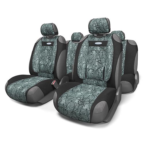 Чехлы-майки Autoprofi Comfort, велюр, цвет: циклон, 9 предметов. COM-905T Cyclone чехол на сиденье autoprofi mtx 1105 bk rd m