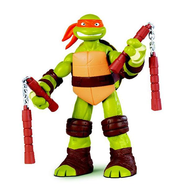 Фигурка Turtles Микеланджело, 25 см игровые фигурки turtles фигурка черепашки ниндзя суперколесо лео 15 см
