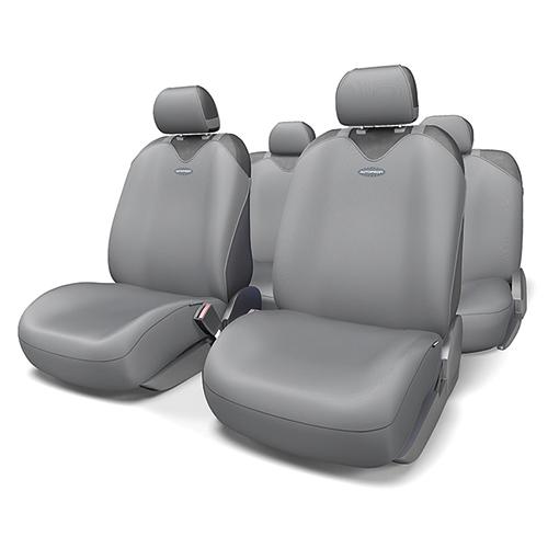 Чехлы-майки на сиденья Autoprofi Sport Plus, полиэстер, цвет: темно-серый, 9 предметов. R-902P D.GYR-902P D.GYЧехлы-майки Autoprofi Sport Plus, выполненные из высококачественного полиэстера, оснащены полностью закрытой нижней частью сидений, которая делает чехлы более практичными и износостойкими. Форма чехлов в виде маек позволяет легко и быстро надевать их на кресла любого типа, не прибегая к демонтажу подголовников и подлокотников. Чехлы-майки Autoprofi Sport Plus выполнены в спортивном стиле, который придает салону яркие и динамичные черты. Широкая гамма расцветок чехлов позволяет подобрать их к любому автомобильному интерьеру. Эластичный полиэстер изделий плотно облегает поверхность кресел, не выцветает на солнце и не электризуется. Имеется возможность использования с любыми типами сидений. Комплектация: - 1 сиденье заднего ряда, - 1 спинка заднего ряда, - 2 чехла переднего ряда, - 5 подголовников, - набор фиксирующих крючков.Особенности: Использование с любыми типами сиденийТолщина поролона - 2 мм