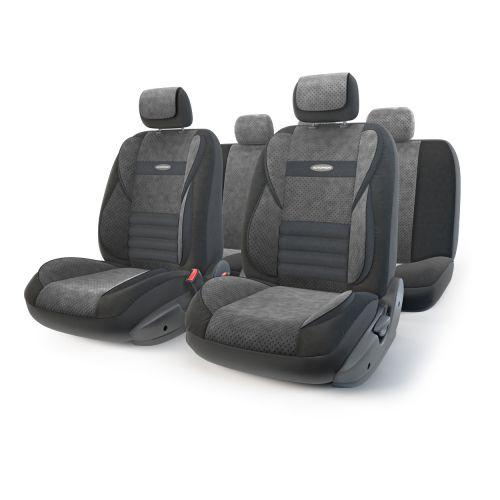 Набор ортопедических авточехлов Autoprofi Multi Comfort, велюр, цвет: черный, 11 предметов. Размер MMLT-1105 BK/BK (M)Инновационная модель анатомических чехлов Multi Comfort. Объемные вставки изделий, расположенные на уровне поясницы, бедер и плечевого пояса, хорошо поддерживают тело водителя и пассажира при маневрах на дороге. В чехлы также вшит ребристый поясничный упор. Его ортопедическая форма снимает нагрузку с межпозвоночных дисков и способствует снижению усталости от многочасового вождения. Кроме этого, чехлы на подголовники оснащены мягким выступом, который поддерживает голову и уменьшает давление на затылок. В качестве внешнего материала используется сочетание плотного и перфорированного велюра. Велюр обладает привлекательным внешним видом и хорошими вентиляционными свойствами, а также очень приятен на ощупь. Основные особенности авточехлов Multi Comfort:- поддержка плечевого пояса; - боковая поддержка спины; - боковая поддержка ног; - ортопедический поясничный упор; - мягкая вставка на подголовнике; - крепление передних спинок липучками; - предустановленные крючки на широких резинках; - 3 молнии в спинке заднего ряда; - 3 молнии в сиденье заднего ряда; - карманы в спинках передних сидений;- толщина поролона: 5 мм; - использование с боковыми airbag. Комплектация: - 1 сиденье заднего ряда; - 1 спинка заднего ряда; - 2 сиденья переднего ряда; - 2 спинки переднего ряда; - 5 подголовников; - набор фиксирующих крючков.