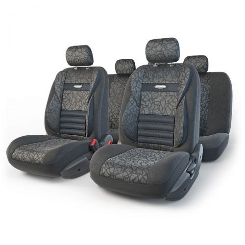 Набор ортопедических авточехлов Autoprofi Comfort Combo, жаккард, цвет: антрацит, 11 предметов. Размер M. CMB-1105 ANTHRACITE (M) чехол autoprofi comfort combo black dark grey cmb 1105 bk d gy m