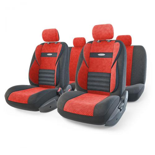Набор ортопедических авточехлов Autoprofi Comfort Combo, велюр, цвет: черный, красный, 11 предметов. Размер M. CMB-1105 BK/RD (M)CMB-1105 BK/RD (M)Ортопедические авточехлы Comfort Combo оснащены усиленной поддержкой плечевого пояса, которая способствует естественному положению спины при вождении. Объемные боковые вставки чехлов на уровне поясницы поддерживают туловище в поворотах, а рифленый поясничный профиль обеспечивает естественную осанку и снижает нагрузку с межпозвоночных дисков.Чехлы Comfort Combo выполнены из формованного велюра, который сочетает привлекательный внешний вид и хорошие дышащие свойства, позволяющие водителю и пассажирам чувствовать себя комфортно во время движения.Основные особенности авточехлов Comfort Combo:- боковая поддержка спины; - 3 молнии в спинке заднего ряда; - 3 молнии в сиденье заднего ряда; - карманы в спинках передних сидений; - крепление передних спинок липучками; - ортопедический поясничный упор; - поддержка плечевого пояса; - предустановленные крючки на широких резинках;- использование с боковыми airbag;- толщина поролона: 5 мм.Комплектация: - 1 сиденье заднего ряда; - 1 спинка заднего ряда; - 2 сиденья переднего ряда; - 2 спинки переднего ряда; - 5 подголовников; - набор фиксирующих крючков.