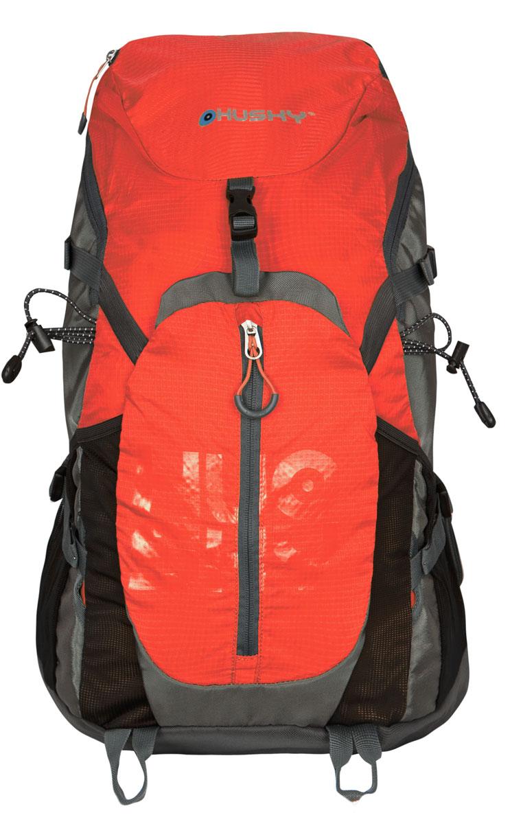 Рюкзак городской Husky Salmon 35L, цвет: оранжевыйУТ-000052241Рюкзак Husky Salmon 35L предназначен для прогулок и велоспорта. Он позволит вам взять с собой все необходимое. Рюкзак выполнен из прочного полиэстера и нейлона.Особенности:- Эргономичная вентилируемая система задней стенки- утолщенные и дышащие эргономичные плечевые лямки- боковой карман для фляги- нагрудный и поясной ремни- держатель для гидратора- компрессионные ремни- держатели для треккинговых палок и другой экипировки- светоотражающие элементы- накидка от дождя- боковые карманы-сетки- светоотражающие элементы Характеристики: Материал: полиэстер 420D Ripstop, полиэстер 600D, нейлон 420D W/P. Объем рюкзака: 35 л. Размер: 57 см х 33 см х 18 см. Вес: 1100 г. Цвет: оранжевый. Размер упаковки: 60 см х 36 см х 12 см. Артикул: УТ-000052241.