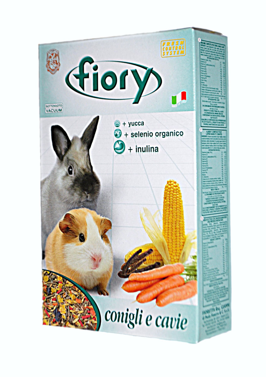 Смесь Fiory Conigli e Cavie для морских свинок и декоративных кроликов, 850 г padovan grandmix cavie