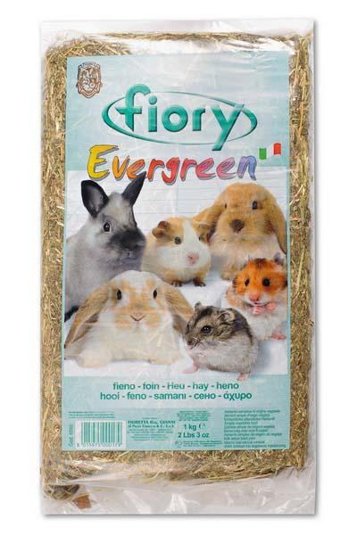 Сено для грызунов Fiory Evergreen, прессованное, 1 кг корм для кроликов fiory karaote 850 г