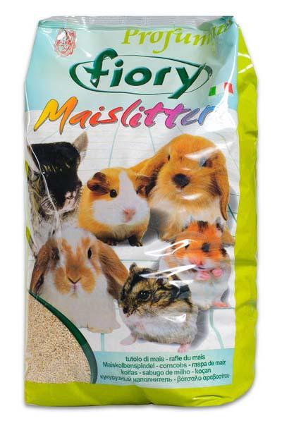 Кукурузный наполнитель для грызунов Fiory  Maislitter. Лимон , 5 л - Наполнители и туалетные принадлежности - Наполнители