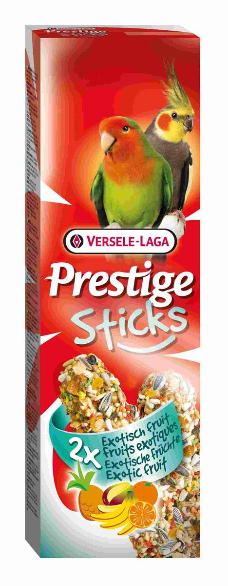 Лакомство Versele-Laga для средних попугаев, палочки с экзотическими фруктами, 2х70 г веселый попугай отборное зерно для средних попугаев 450 г