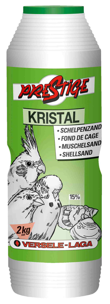 Песок для птиц Versele-Laga Kristal, с ракушечником, 2 кг лакомства дл птиц versele laga prestige палочки дл канареек с йцом и ракушечником 2х30г