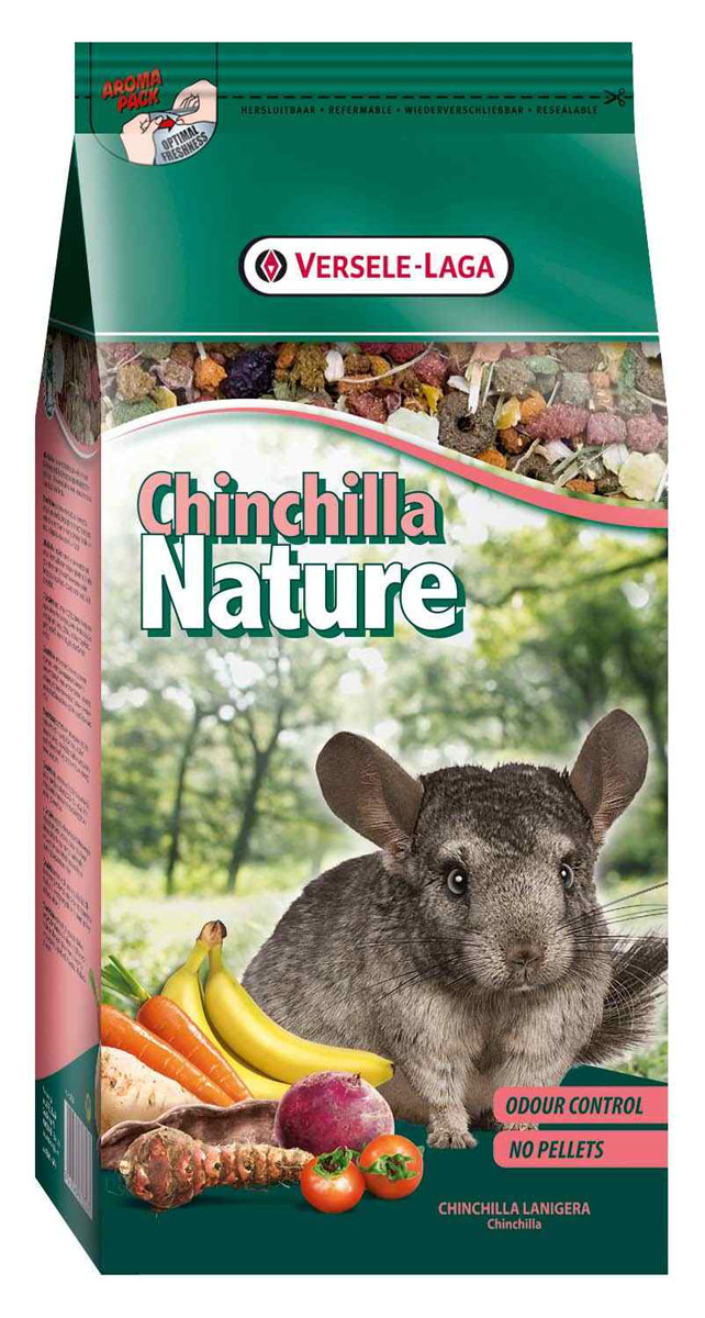 Корм для шиншилл Versele-Laga Chinchilla Nature, 750 г versele laga nature cavia