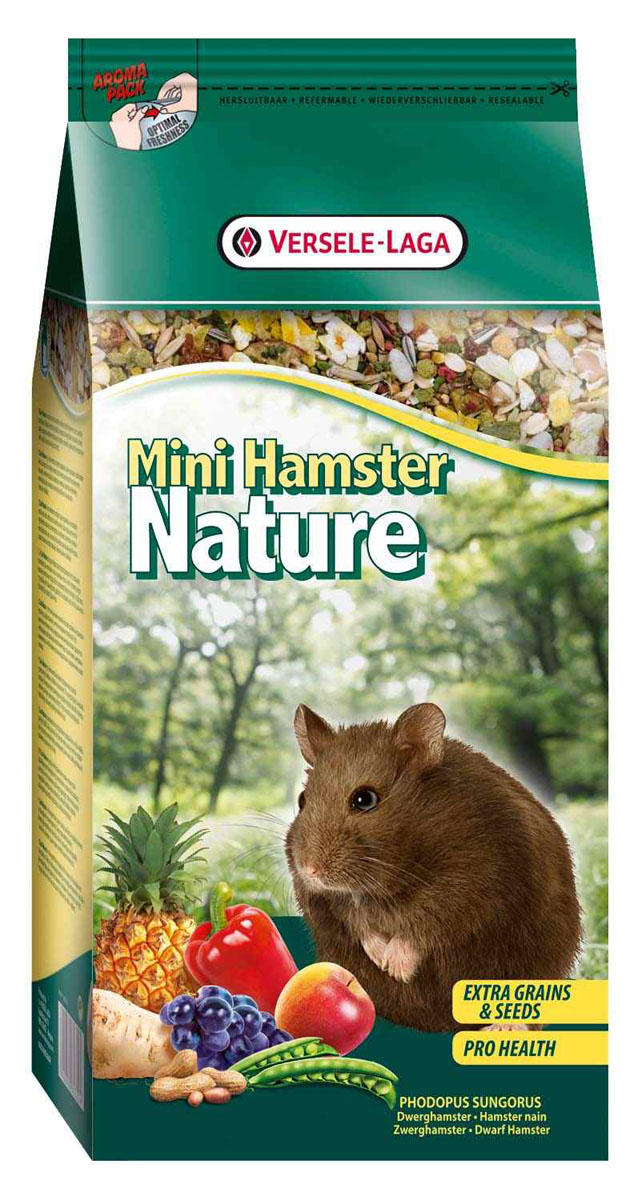 Корм для карликовых хомяков Versele-Laga Mini Hamster Nature, 400 г корм для карликовых хомяков versele laga mini hamster nature 400 г