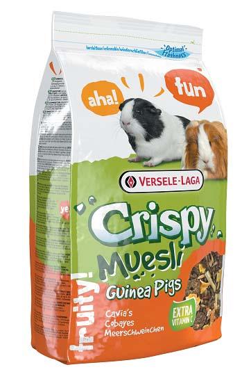 Корм для морских свинок Versele-Laga Crispy Muesli Guinea Pigs, с витамином С, 1 кг versele laga корм для грызунов versele laga crispi cavia для морских свинок 0 4 кг