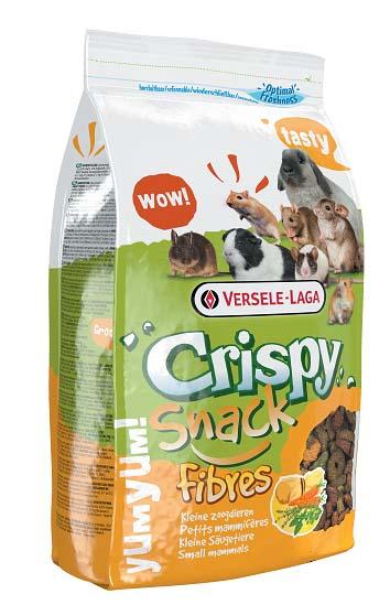 Корм для грызунов Versele-Laga Crispy Snack Fibres, дополнительный, 650 г versele laga корм для грызунов versele laga crispi cavia для морских свинок 0 4 кг