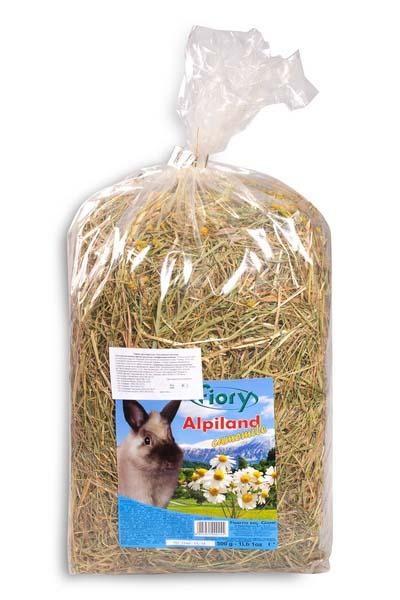 Альпийское сено для грызунов Fiory Alpiland Camomile, с ромашкой, 500 г корм для кроликов fiory karaote 850 г