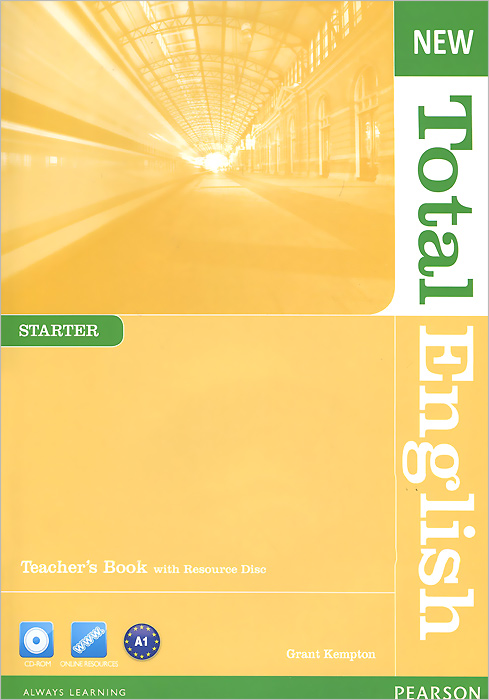 New Total English: Starter: Teacher's Book (+ CD-ROM) blue fins starter level cd rom