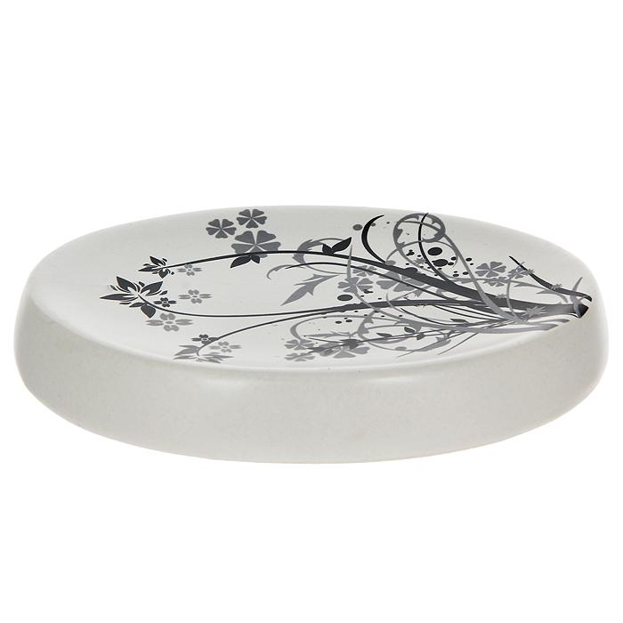 Мыльница Duschy Aster354-04Овальная мыльница Duschy Aster выполнена из керамики молочного цвета, украшена растительным рисунком черного цвета. Мыльница отличается легкостью и компактностью, при этом она устойчива, углубленная поверхность не позволит мылу скользить. Такая мыльница станет достойным дополнением интерьера ванной комнаты. Характеристики:Материал: керамика. Цвет: молочный. Размер мыльницы: 13,5 см х 9,5 см х 2 см. Размер упаковки: 14 см х 11 см х 3 см. Артикул: 354-04.