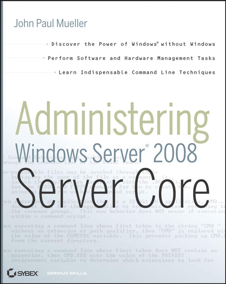 Administering Windows Server® 2008 Server Core server