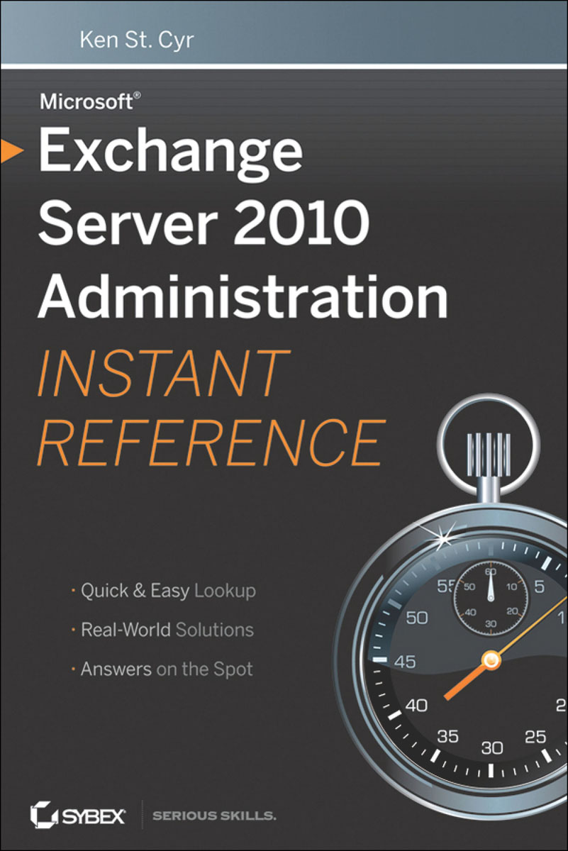 Microsoft Exchange Server 2010 Administration Instant Reference pp4 00017 microsoft