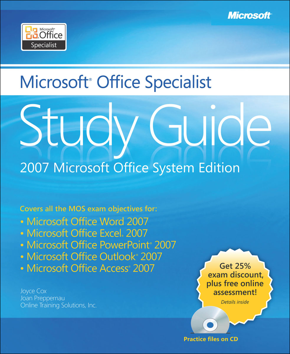 The Microsoft Office Specialist Study Guide +CD mos 2013 study guide for microsoft outlook
