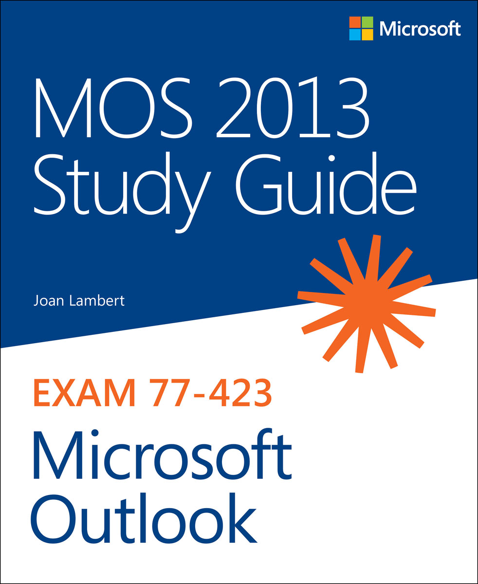 MOS 2013 Study Guide for Microsoft Outlook airbox 2013