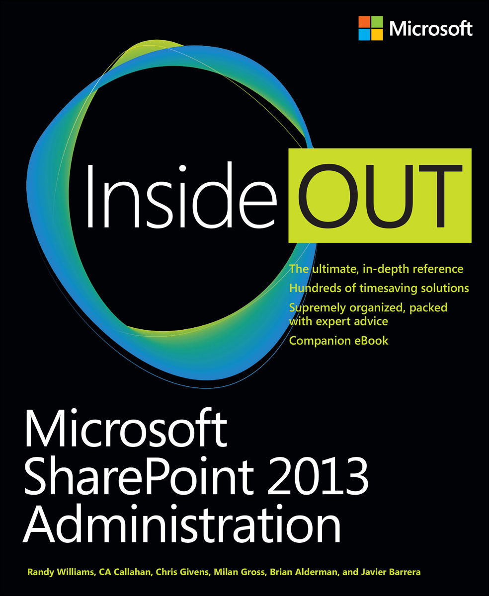 Microsoft SharePoint 2013 Administration Inside Out mb barbell мв 2 27 grey