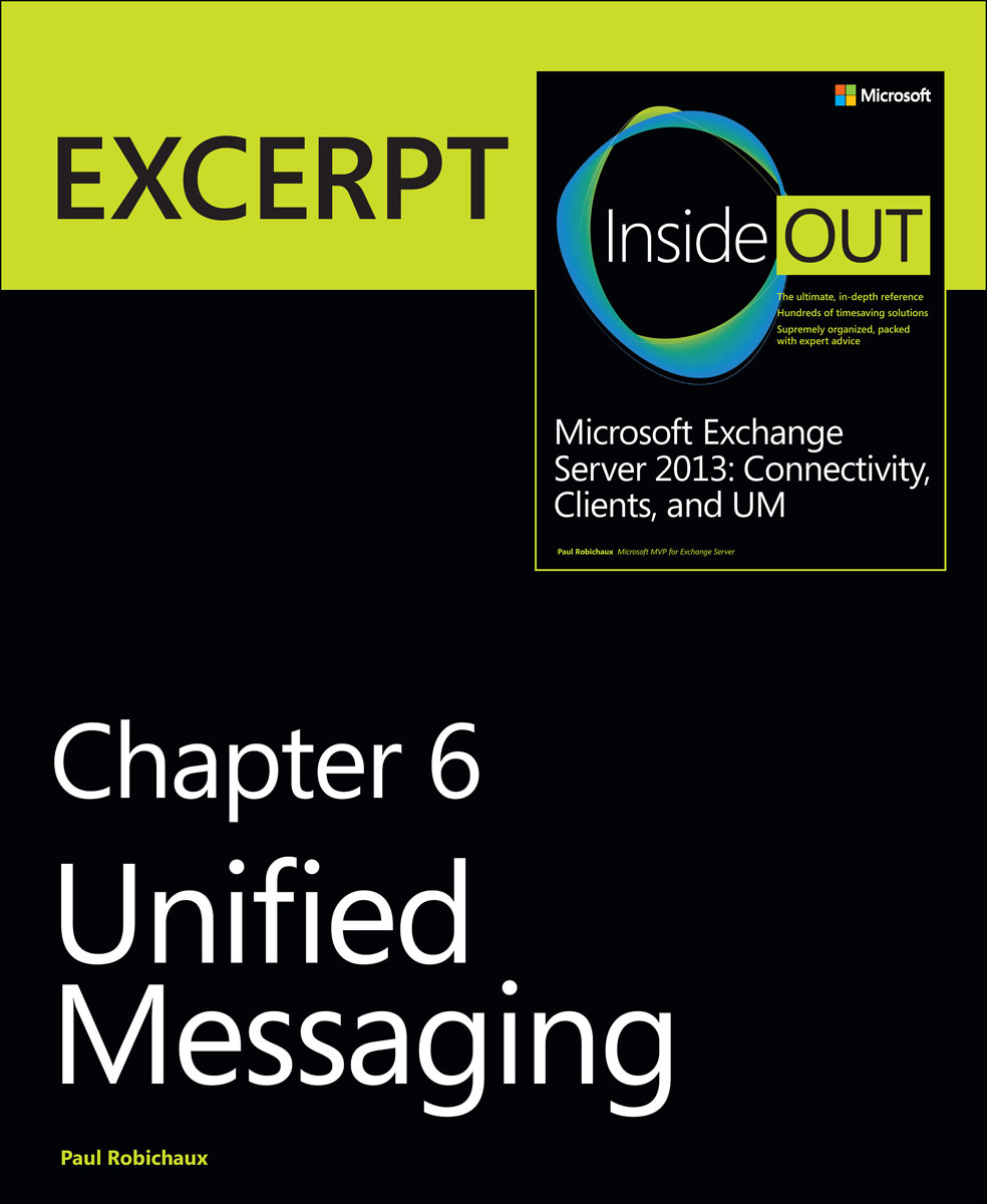 Unified Messaging: EXCERPT from Microsoft Exchange Server 2013 Inside Out a new unified mcmc methods toward unified statistics theory by mcmc