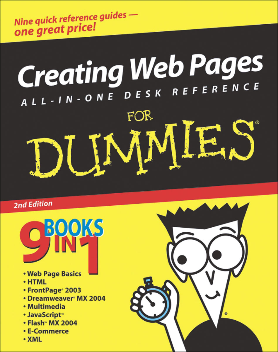 Creating Web Pages All–in–One Desk Reference For Dummies® building web sites all–in–one desk reference for dummies®