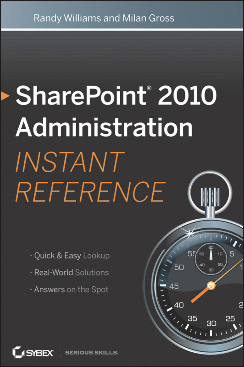 SharePoint 2010 Administration Instant Reference sharepoint foundation 2010 administration 24 hour trainer