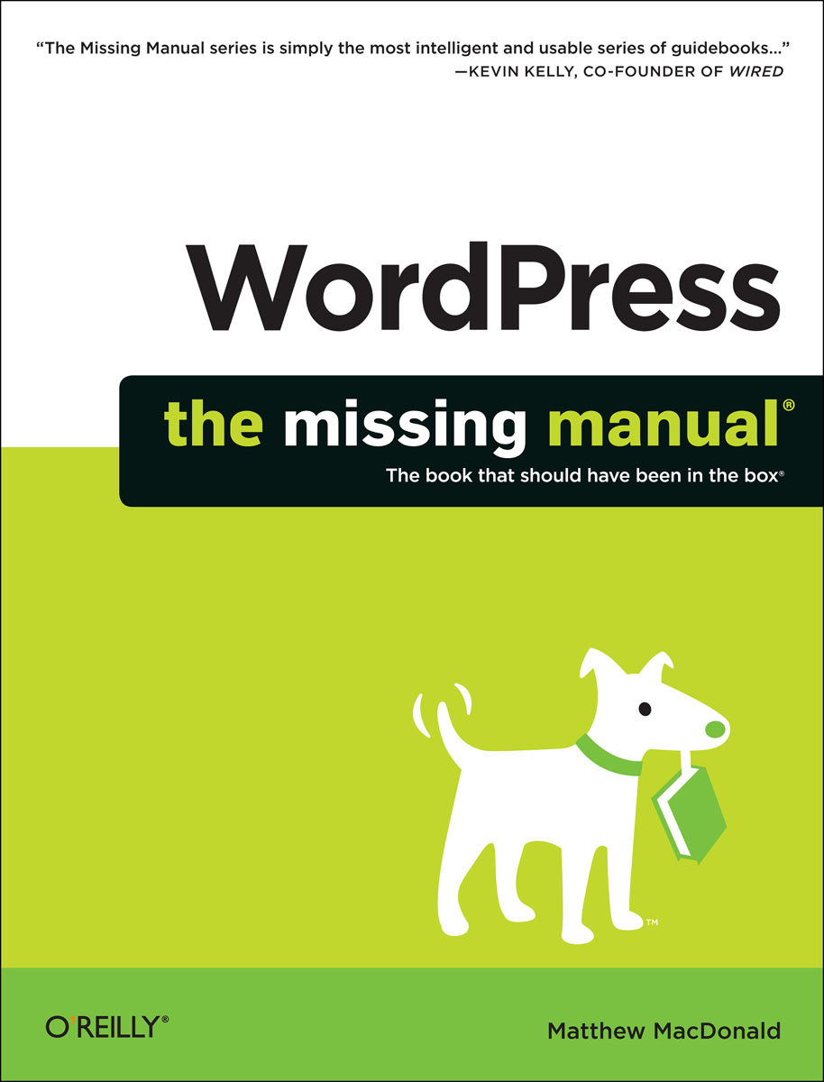WordPress: The Missing Manual wordpress