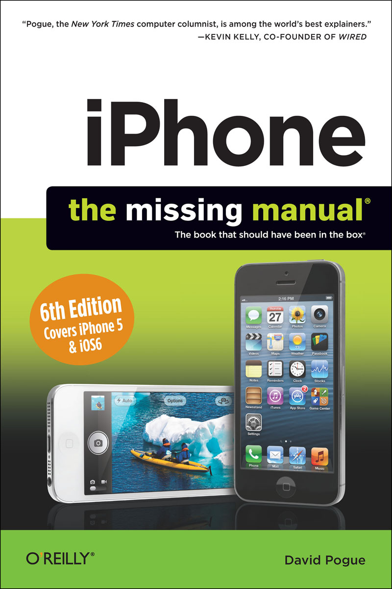 iPhone: The Missing Manual wordpress the missing manual