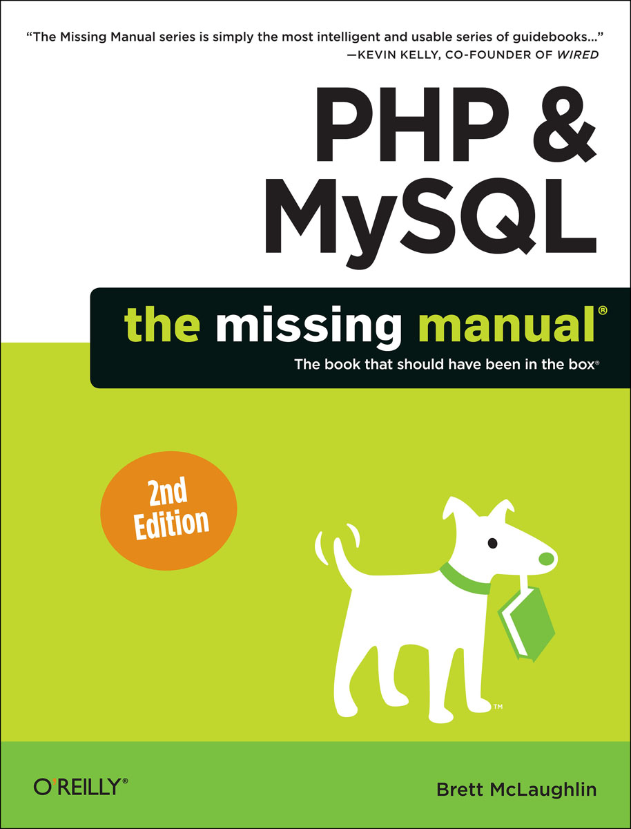 PHP & MySQL: The Missing Manual license php