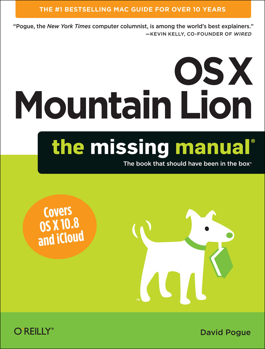 OS X Mountain Lion: The Missing Manual learning unix for os x mountain lion