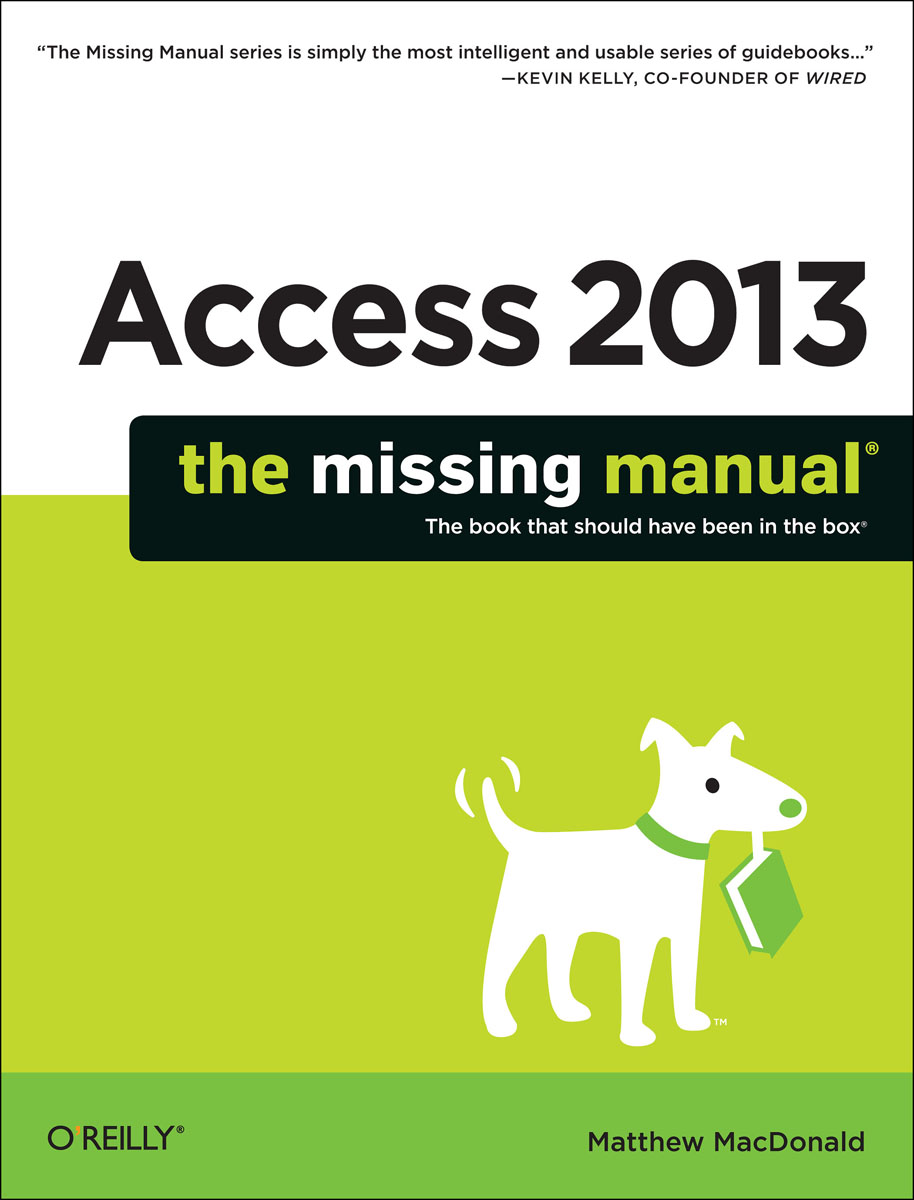 Access 2013: The Missing Manual wordpress the missing manual