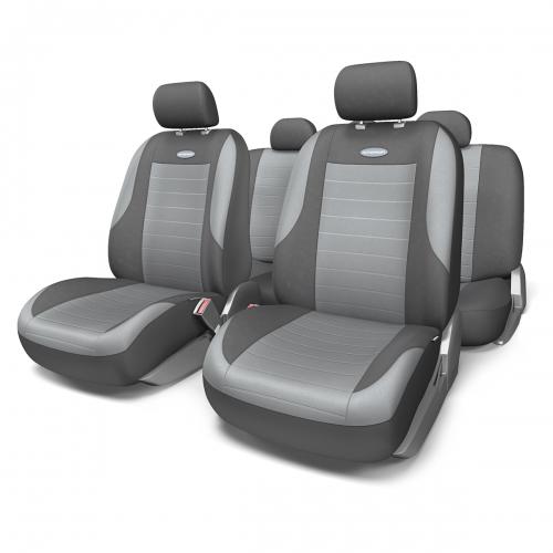 Набор авточехлов Autoprofi Evolution, велюр, цвет: темно-серый, светло-серый, 11 предметов. Размер MEVO-1105 D.GY/L.GY (M)Классическая модель авточехлов Evolution выполнена в спортивном стиле, придающем салону автомобиля яркие и динамичные черты. Велюр, из которого изготавливаются чехлы, очень приятен на ощупь и обладает высокой износостойкостью. Материал не выцветает на солнце, не электризуется и имеет высокие грязеотталкивающие свойства.Велюр триплирован 5-миллиметровым слоем поролона, который помогает чехлам сохранять свою форму на протяжении всего срока службы. Благодаря триплированию чехлы плотно облегают сиденья, не скользят по их поверхности и не мнутся.Основные особенности авточехлов Evolution:- 3 молнии в спинке заднего ряда; - карманы в спинках передних сидений;- толщина поролона: 5 мм.Комплектация: - 1 сиденье заднего ряда; - 1 спинка заднего ряда; - 2 сиденья переднего ряда; - 2 спинки переднего ряда; - 5 подголовников; - набор фиксирующих крючков.