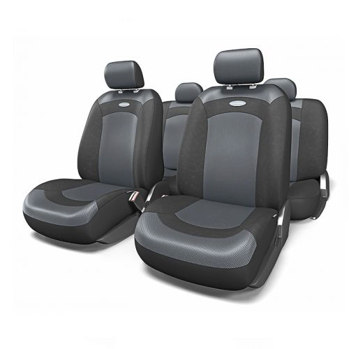 Набор авточехлов Autoprofi Extreme, велюр, цвет: черный, 8 предметов. Размер MXTR-803 BK/BK (M)Модель Extreme сделана по традиционной цельной схеме, без разделения на чехлы для спинки и сиденья. Благодаря этому она является наиболее доступной из серии классических автомобильных чехлов, не уступая в функциональности другим моделям.Чехлы Extreme обладают приятным двухцветным дизайном, который гармонично смотрится с любым автомобильным интерьером. В качестве материалов используются велюр и объемная сетчатая ткань. Ткань способствует улучшенной вентиляции кресел и позволяет сделать комфортными даже дальние поездки.Основные особенности авточехлов Extreme:- 3 молнии в спинке заднего ряда;- использование с боковыми airbag: нет;- толщина поролона: 3 мм.Комплектация: - 1 сиденье заднего ряда; - 1 спинка заднего ряда; - 2 чехла переднего ряда; - 4 подголовника; - набор фиксирующих крючков.
