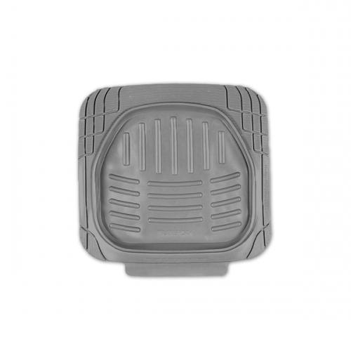 Коврики автомобильные Автопрофи / Autoprofi Transform, термопласт, цвет: серый, 2 штTER-002 GYКомплект универсальных ковриков для заднего ряда Автопрофи / Autoprofi Transform отличаются лаконичным, но в то же время функциональным дизайном. Наличие множества насечек на поверхности ковриков позволяет с помощью ножниц корректировать размер и форму изделий, адаптируя их под салон автомобиля.Коврики изготовлены из термопласта-эластомера, сохраняющего эластичность даже при экстремально низких температурах - до -50 °С. Легкий и износостойкий материал устойчив к воздействию агрессивных веществ, таких как масло, топливо или дорожные реагенты, и не обладает характерным запахом резины. Характеристики:Материал: термопласт-эластомер. Размер 1 коврика: 510 мм х 510 мм. Комплектация: 2 шт. Температура использования: от -50 до +50 °С. Артикул: TER-002 GY.