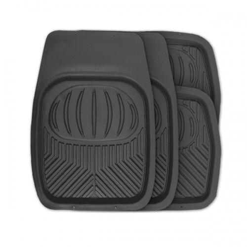 Коврики автомобильные Autoprofi Polar, универсальные, цвет: черный, 4 предметаTER-105 BKУниверсальные автомобильные коврики Autoprofi Polar изготовлены из термопласта-эластомера, который отличается небольшим весом, отсутствием характерного для резины запаха и высокой износостойкостью. Инновационный материал сохраняет свою эластичность даже при экстремально низких температурах до -50°С и устойчив к воздействию агрессивных веществ, таких как масло, топливо или дорожные реагенты. На передних ковриках имеются специальные насечки для разреза, которые позволяют придать им форму, соответствующую выемкам днища автомобиля. Благодаря этому они плотно прилегают к полу, защищая его от грязи и влаги. Высокие фрикционные свойства материала ковриков не дают им скользить по салону и под ногами водителя и пассажира. Характеристики: Материал: термопласт-эластомер. Цвет: черный. Комплектация: 4 шт. Температура использования: от -50°С до +50°С. Размер переднего коврика: 69 см х 48 см. Размер заднего коврика: 48 см х 48 см. Размер упаковки: 5 см х 69 см х 48 см. Артикул: TER-105 BK.