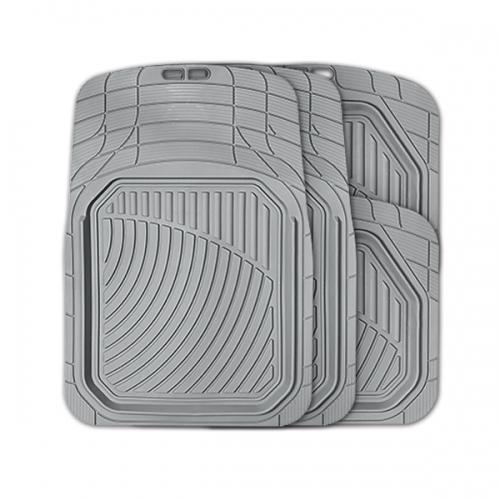 Коврики автомобильные Autoprofi Defender, универсальные, морозостойкие, цвет: серый, 4 предметаTER-515 GYКоврики Autoprofi Defender изготовлены из термопласта-эластомера, который характеризуется небольшим весом, отсутствием типичного для резины запаха и высокой износостойкостью. Данный материал сохраняет свою эластичность даже при экстремально низких температурах до -50°С и устойчив воздействию агрессивных веществ, таких как масло, топливо или дорожные реагенты. Специальный рисунок ковриков позволяет использовать их в большинстве современных легковых автомобилей. Разветвленная сеть насечек для разреза на поверхности помогает придать коврикам форму, точно соответствующую днищу салона. Благодаря этому и высоким фрикционным качествам материала коврики не скользят под ногами и плотно лежат на поверхности пола, защищая его от грязи и влаги. Характеристики: Материал: термопласт-эластомер. Цвет: серый. Комплектация: 4 шт. Температура использования ковриков: от -50°С до +50°С. Размер переднего коврика: 74 см х 52 см. Размер заднего коврика: 45,5 см х 51,5 см. Артикул: TER-515 GY.