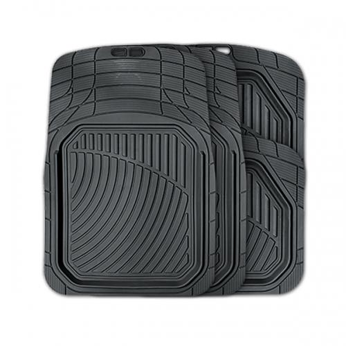 Коврики автомобильные Autoprofi Defender, универсальные, морозостойкие, цвет: черный, 4 предметаTER-515 BKКоврики Autoprofi Defender изготовлены из термопласта-эластомера, который характеризуется небольшим весом, отсутствием типичного для резины запаха и высокой износостойкостью. Данный материал сохраняет свою эластичность даже при экстремально низких температурах до -50°С и устойчив воздействию агрессивных веществ, таких как масло, топливо или дорожные реагенты. Специальный рисунок ковриков позволяет использовать их в большинстве современных легковых автомобилей. Разветвленная сеть насечек для разреза на поверхности помогает придать коврикам форму, точно соответствующую днищу салона. Благодаря этому и высоким фрикционным качествам материала коврики не скользят под ногами и плотно лежат на поверхности пола, защищая его от грязи и влаги. Характеристики: Материал: термопласт-эластомер. Цвет: черный. Комплектация: 4 шт. Температура использования ковриков: от -50°С до +50°С. Размер переднего коврика: 74 см х 52 см. Размер заднего коврика: 45,5 см х 51,5 см. Артикул: TER-515 BK.