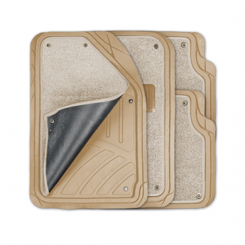 Коврики автомобильные Autoprofi Focus 2, универсальные, морозостойкие, цвет: бежевый, 4 предмета чехол на сиденье autoprofi gob 1105 gy line m
