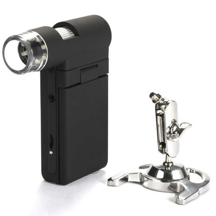 Levenhuk DTX 500 Mobi микроскоп61023Микроскоп Levenhuk DTX 500 Mobi – это портативный прибор со встроенным 3-дюймовым цветным дисплеем, обеспечивающий увеличение до 500 крат и плавное цифровое увеличение до 4 крат. Идеально подходит для микроскопических исследований любых поверхностей дома и на прогулке. Отличный подарок школьнику.Микроскоп оснащен функцией фото- и видеозаписи. Результаты съемки записываются на карту памяти microSD. Для того чтобы передать снимки и видео с карты памяти на компьютер, достаточно подключить устройство через стандартный USB-кабель, входящий в комплект поставки. С микроскопом также поставляется программное обеспечение, позволяющее редактировать записи и производить точные измерения расстояний, углов и радиусов с погрешностью не более 1 мкм.Прибор работает от литий-ионного аккумулятора, обеспечивающего до 4 часов непрерывной автономной работы. Корпус микроскопа имеет прорезиненное покрытие, которое не только приятно на ощупь, но и не даст прибору выскользнуть из рук.