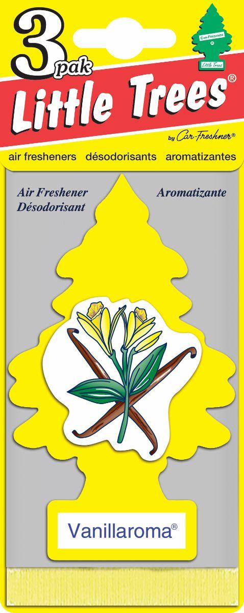 Комплект ароматизаторов елочка Аромат ванили, 3 штU3S-32005Оригинальный ароматизатор сделан из высококапилярного качественного картона - что позволяет долго сохранять аромат и насыщенность красок изображения. Уникален по эффективности действия, насыщенности и стойкости запахаПовесьте ароматизатор в любом удобном месте - в салоне автомобиля, дома или в офисе - и получайте удовольствие! Характеристики:Материал: 100% спрессованная целлюлоза, полимеры, не токсичные отдушки. Размер упаковки: 19 см х 7,5 см х 1 см. Артикул:U3S-32005.